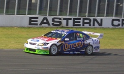 Ford Performance Racing Ford Falcon V8 Supercar at Eastern Creek in Australia in 2008