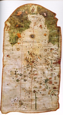 Map of Juan de la Cosa. It is the oldest known European cartographic representation of the New World.