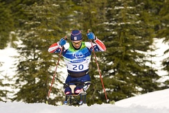 Biathlon: Andy Soule from the United States, at the 2010 Paralympics in Vancouver.