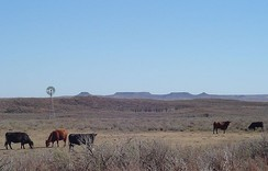The Antelope Hills of Southwest Oklahoma in the distance