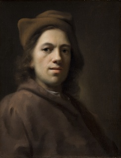 Balthasar Denner self-portrait, 1719