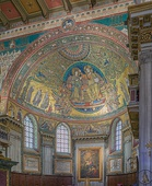 Apse of the Santa Maria Maggiore church in Rome, decorated in the 5th century with this glamorous mosaic