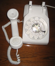 Standard Western Electric 500-type telephone set, rented to U.S. telephone subscribers.