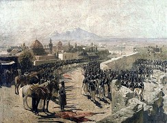 Capture of Erivan fortress by Russian troops in 1827 during the Russo-Persian War (1826–28) by Franz Roubaud