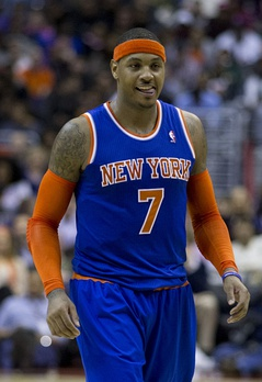 Carmelo Anthony with the Knicks