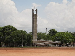 The Marco Zero monument marking the equator in Macapá, Brazil
