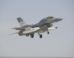 The U.S. Air Force's F-16D Automatic Collision avoidance Technology (ACAT) aircraft