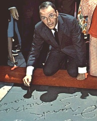 Sinatra at the Grauman's Chinese Theatre in 1965