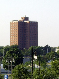 The building that was part of the Brewster-Douglass Housing Projects in Detroit, where Diana spent her teenage years