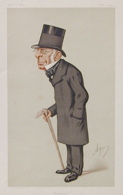 George Biddell Airy caricatured by Ape in Vanity Fair Nov 1875