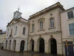 The Guildhall in South Molton in Devon
