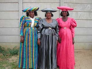 Women of the Herero people from Namibia. Pink stands out.