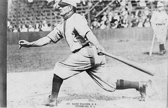 Honus Wagner 1911 batting