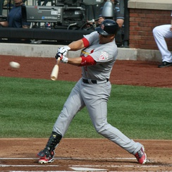 Beltrán batting for the St. Louis Cardinals in 2012