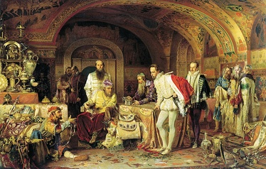 Ivan IV of Russia Shows His Treasury to Jerome Horsey (Alexander Litovchenko, 1875)