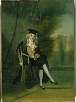 A young James Louis Macie, dressed in Oxford regalia, by James Roberts, c. 1786