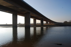 Bridge carrying the M5 motorway across the River Exe