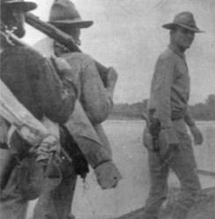 Captain Cornelius C. Smith, a Medal of Honor recipient, with members of the 14th Cavalry Regiment in 1904