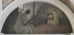 John White Alexander, Manuscript Book mural (1896), Library of Congress Thomas Jefferson Building, Washington, D.C.