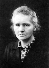 Polish–French physicist–chemist Marie Curie, famous for her pioneering research on radioactivity.