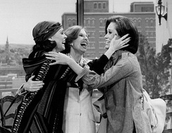 Harper with Mary Tyler Moore and Cloris Leachman in final episode of The Mary Tyler Moore Show (1977)