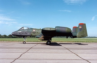 Fairchild Republic A-10A Thunderbolt II s/n 78-0681 displayed in markings of the 353rd Tactical Fighter Squadron/354th Tactical Fighter Wing at the National Museum of the United States Air Force.[2]