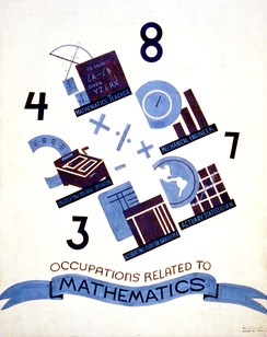 In 1938 in the United States, mathematicians were desired as teachers, calculating machine operators, mechanical engineers, accounting auditor bookkeepers, and actuary statisticians