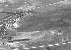 Offutt Field in October 1936, before the construction of hard runways and permanent facilities