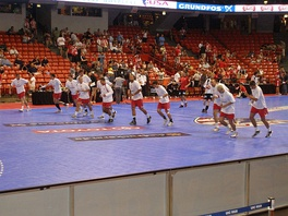 Warm up of the national team before match against Germany in 2010