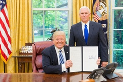 Pence with President Donald Trump