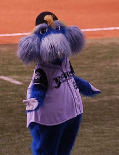 Raymond, the mascot, pictured in 2007.