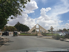 Roundabout in Dodoma.