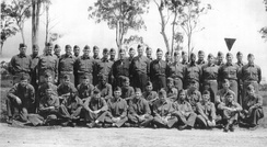 Integrated graduating class of SWPA OCS at Camp Columbia, Australia in September 1944.
