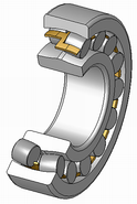 A spherical roller bearing