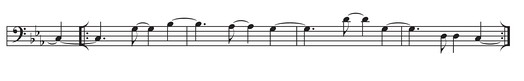 Clave-neutral tresillo-based tumbao.