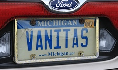 Self-referencing vanity plate in Michigan