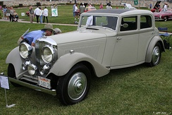 1934 Bentley 3.5 Litre Sports Saloon showing sunroof