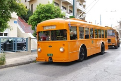 Preserved vintage trolleybus of Piraeus-Kastella line.