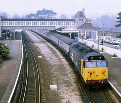 Torquay Railway Station in 1988