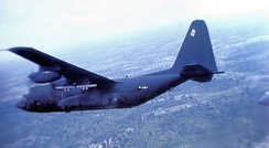 AC-130 Spectre gunship of the 16th Special Operations Squadron flying from Korat RTAFB, Thailand, July 1974