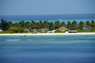 A beachside resort at Kadmat Island, Lakshadweep