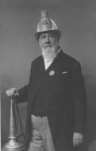 Cartwright in later life as fire chief