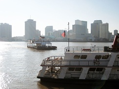 Ferries connecting New Orleans with Algiers (left) and Gretna (right)
