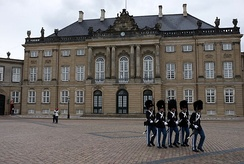 A mansion at Amalienborg in Frederiksstaden (1750), part of the Amalienborg Palace