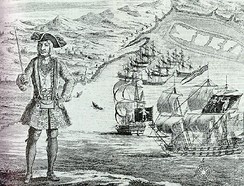 Bartholomew Roberts was the pirate with most captures during the Golden Age of Piracy. He is now known for hanging the governor of Martinique from the yardarm of his ship.