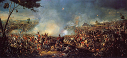 Panoramic painting of the Battle of Waterloo