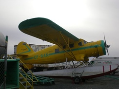 Buffalo Airways Norseman on floats in Yellowknife, NWT