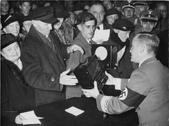 Free radios were distributed in Berlin on Goebbels' birthday in 1938.
