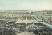 A view of Champs-Élysées in the 1860s, looking from the Rond-Point toward the Place de la Concorde
