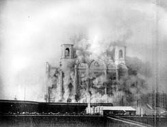 The Cathedral of Christ the Saviour, Moscow, during its demolition in 1931